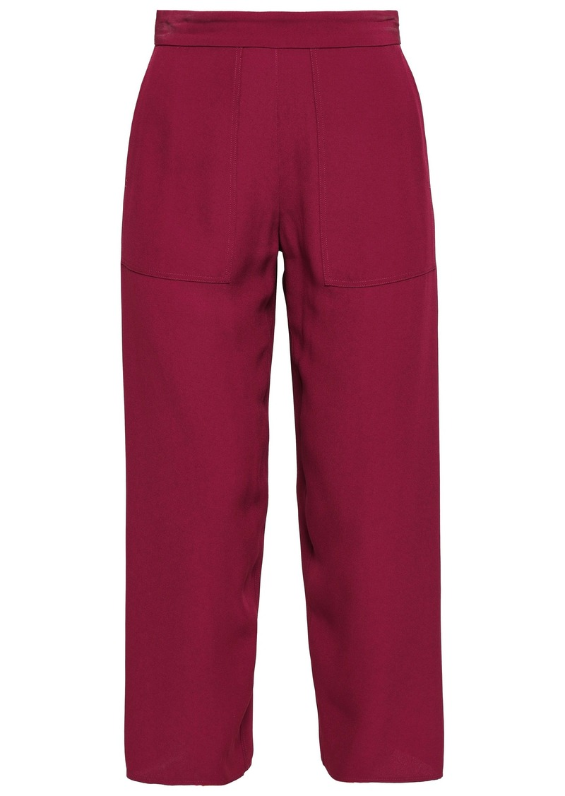 Vanessa Bruno Woman Galien Cady Straight-leg Pants Plum