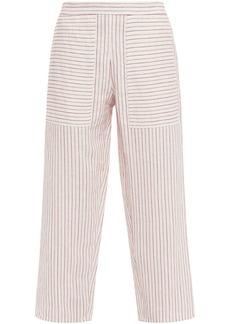 Vanessa Bruno Woman Galien Cropped Jacquard Wide-leg Pants Ivory