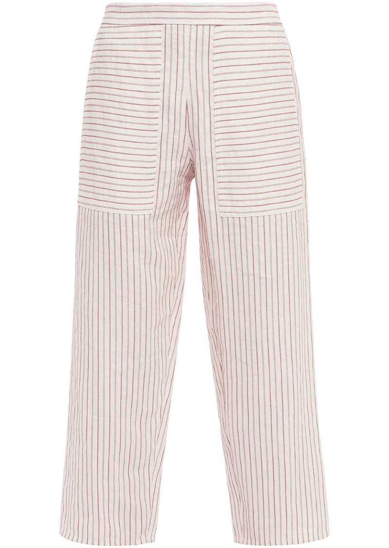 Vanessa Bruno Woman Galien Cropped Jacquard Wide-leg Pants Ivory