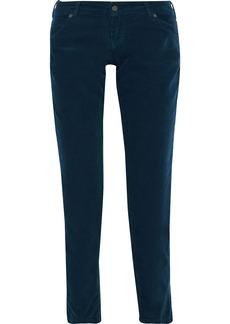 Vanessa Bruno Woman Hasni Cotton-blend Corduroy Slim-leg Pants Midnight Blue