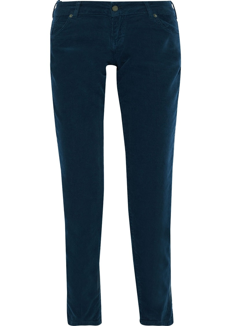 Vanessa Bruno Woman Hasni Cotton-blend Corduroy Slim-leg Pants Midnight Blue