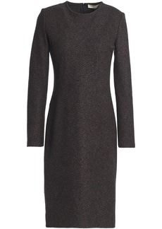 Vanessa Bruno Woman Herringbone Wool-blend Dress Navy