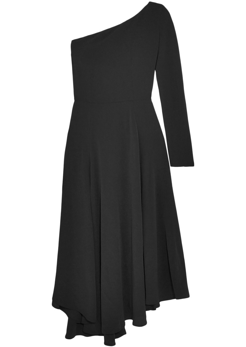 Vanessa Bruno Woman Hestia One-shoulder Asymmetric Crepe Midi Dress Black