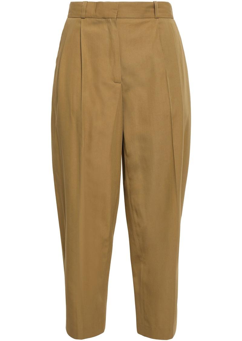 Vanessa Bruno Woman Iakiri Cotton-blend Twill Tapered Pants Army Green