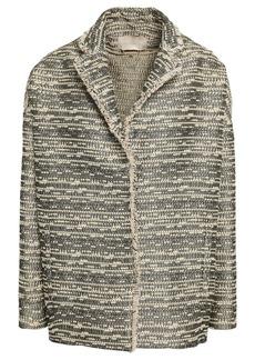 Vanessa Bruno Woman Idalgo Metallic Tweed Jacket Beige