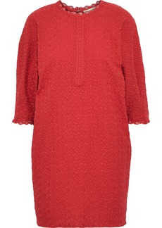 Vanessa Bruno Woman Isolde Embroidered Cotton-gauze Mini Dress Red