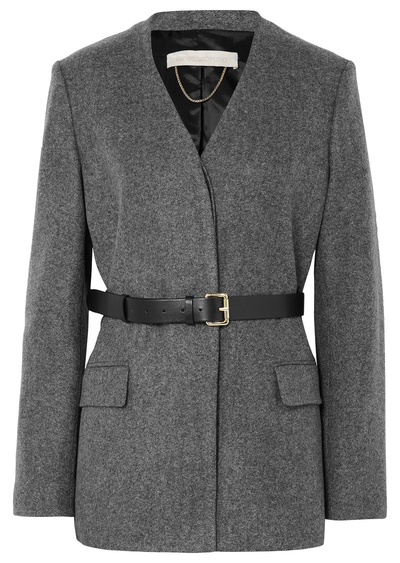 Vanessa Bruno Woman Jacinta Belted Wool Blazer Gray