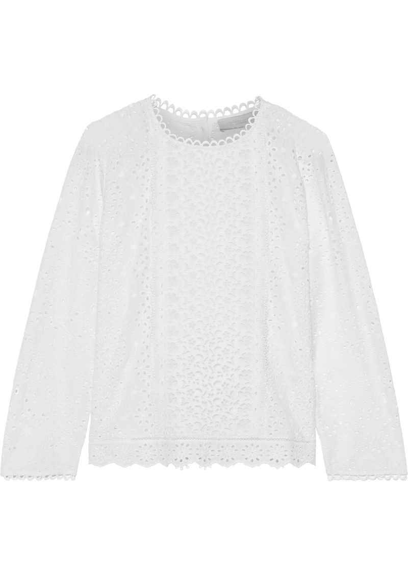 Vanessa Bruno Woman Jalna Broderie Anglaise Cotton Top White