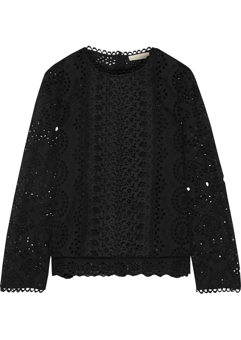 Vanessa Bruno Woman Jalna Broderie Anglaise Cotton Top Black