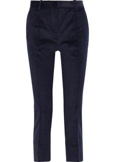 Vanessa Bruno Woman Jame Cropped Cotton-blend Corduroy Slim-leg Pants Midnight Blue