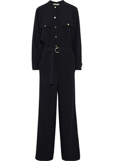 Vanessa Bruno Woman Jamila Belted Crepe Wide-leg Jumpsuit Black