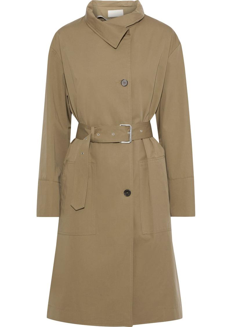 Vanessa Bruno Woman Jarode Cotton And Wool-blend Gabardine Coat Army Green