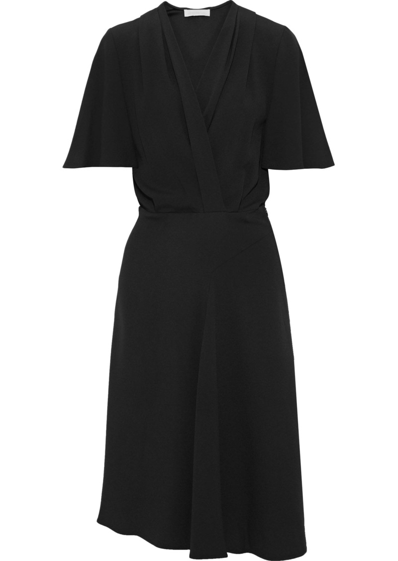 Vanessa Bruno Woman Jeanna Wrap-effect Crepe Dress Black