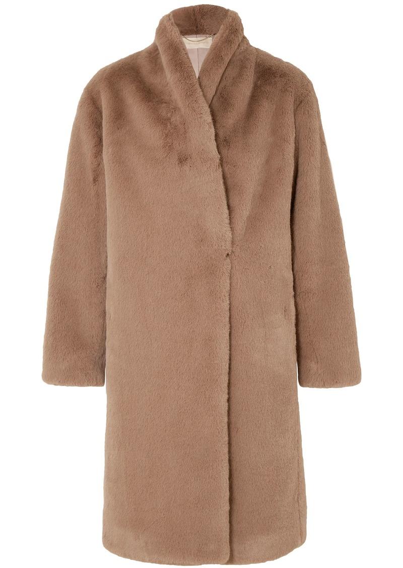 Vanessa Bruno Woman Jerko Faux Fur Coat Light Brown