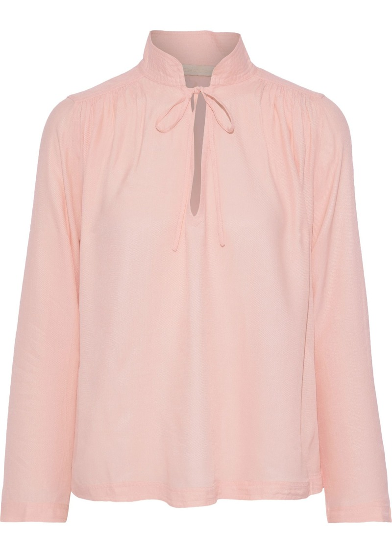 Vanessa Bruno Woman Jerry Gathered Twill Blouse Baby Pink