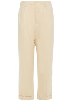 Vanessa Bruno Woman Cropped Crepe Tapered Pants Ecru