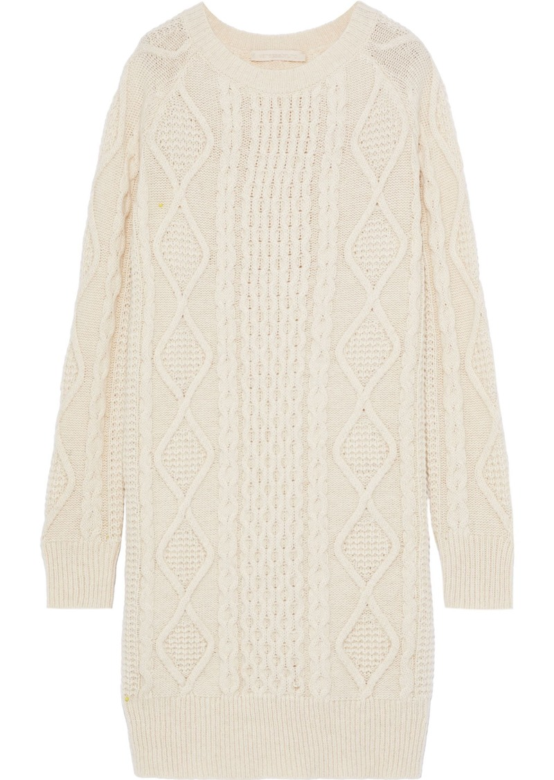 Vanessa Bruno Woman Justina Cable-knit Alpaca-blend Dress Ecru