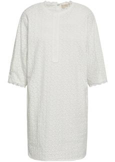 Vanessa Bruno Woman Lace-trimmed Embroidered Cotton Mini Dress White