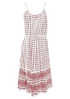 Vanessa Bruno Woman Lalou Belted Printed Cotton-jersey Dress White