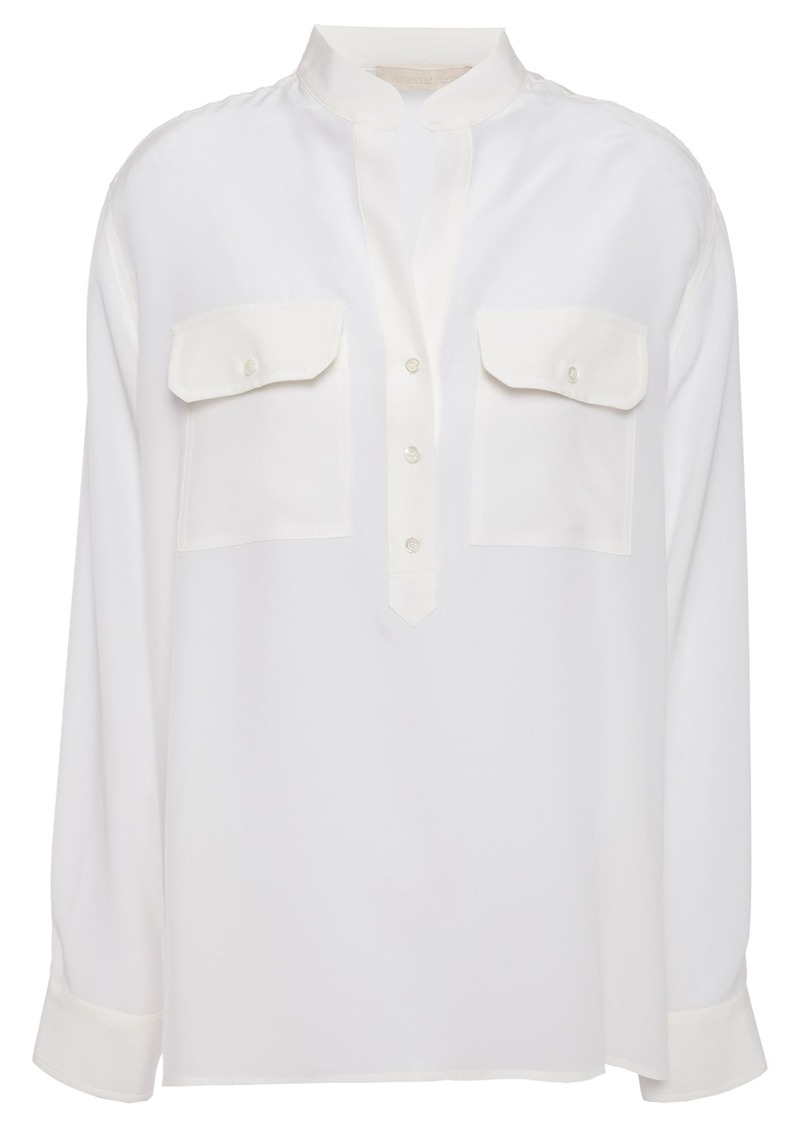 Vanessa Bruno Woman Lauren Silk Crepe De Chine Blouse Ecru