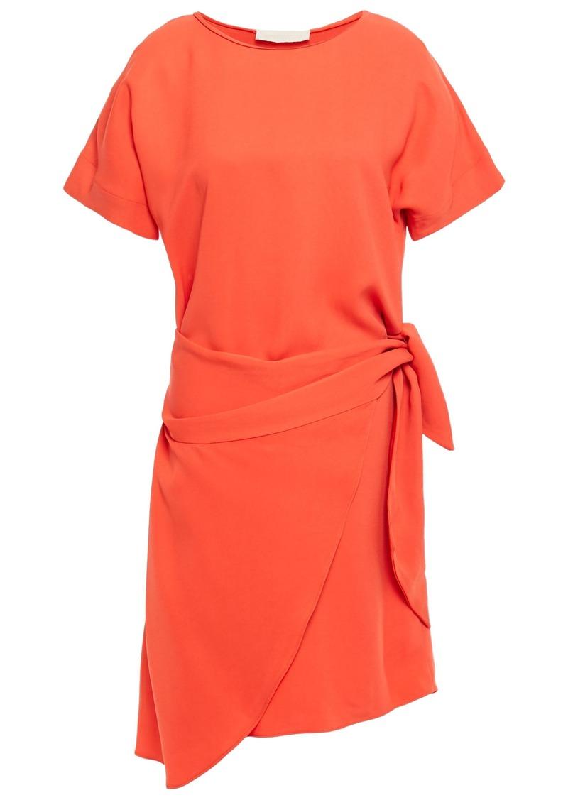 Vanessa Bruno Woman Lenora Wrap-effect Crepe Mini Dress Orange