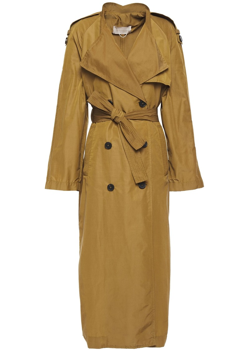 Vanessa Bruno Woman Leon Belted Cotton-blend Trench Coat Army Green