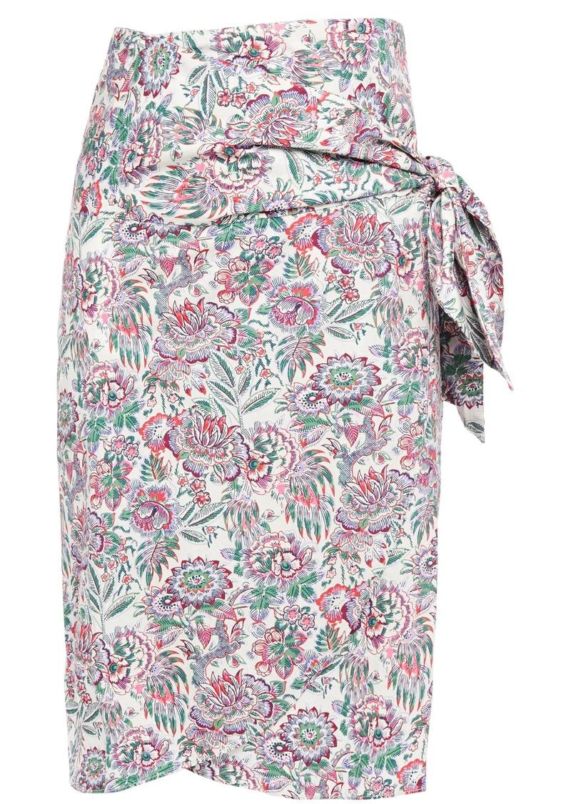Vanessa Bruno Woman Lesley Floral-print Cotton-poplin Wrap Skirt Ivory