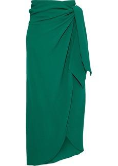 Vanessa Bruno Woman Libby Crepe Midi Wrap Skirt Forest Green
