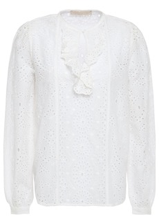 Vanessa Bruno Woman Lili Rose Broderie Anglaise Cotton Blouse White