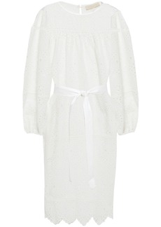 Vanessa Bruno Woman Lindia Belted Broderie Anglaise Cotton Dress White