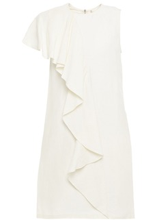Vanessa Bruno Woman Lizie Ruffled Crepe Mini Dress Cream