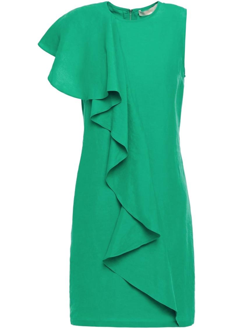 Vanessa Bruno Woman Lizie Ruffled Crepe Mini Dress Jade