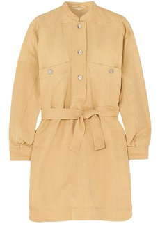 Vanessa Bruno Woman Maya Belted Twill Mini Dress Sand