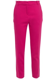 Vanessa Bruno Woman Moustique Cropped Wool-blend Twill Slim-leg Pants Fuchsia