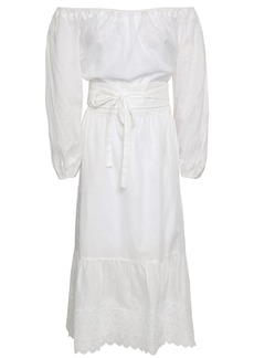 Vanessa Bruno Woman Off-the-shoulder Broderie Anglaise Cotton Dress White