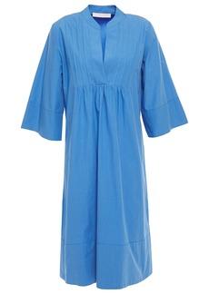 Vanessa Bruno Woman Pintucked Gathered Cotton-poplin Kaftan Blue