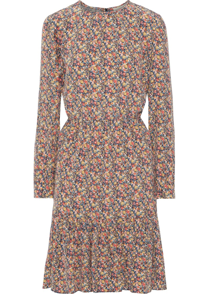 Vanessa Bruno Woman Pleated Floral-print Silk Dress Multicolor