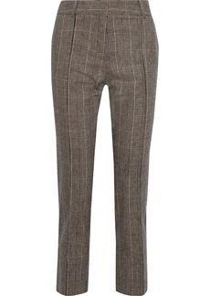 Vanessa Bruno Woman Prince Of Wales Checked Woven Straight-leg Pants Light Brown
