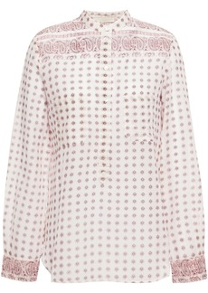 Vanessa Bruno Woman Printed Cotton-mousseline Shirt Ecru