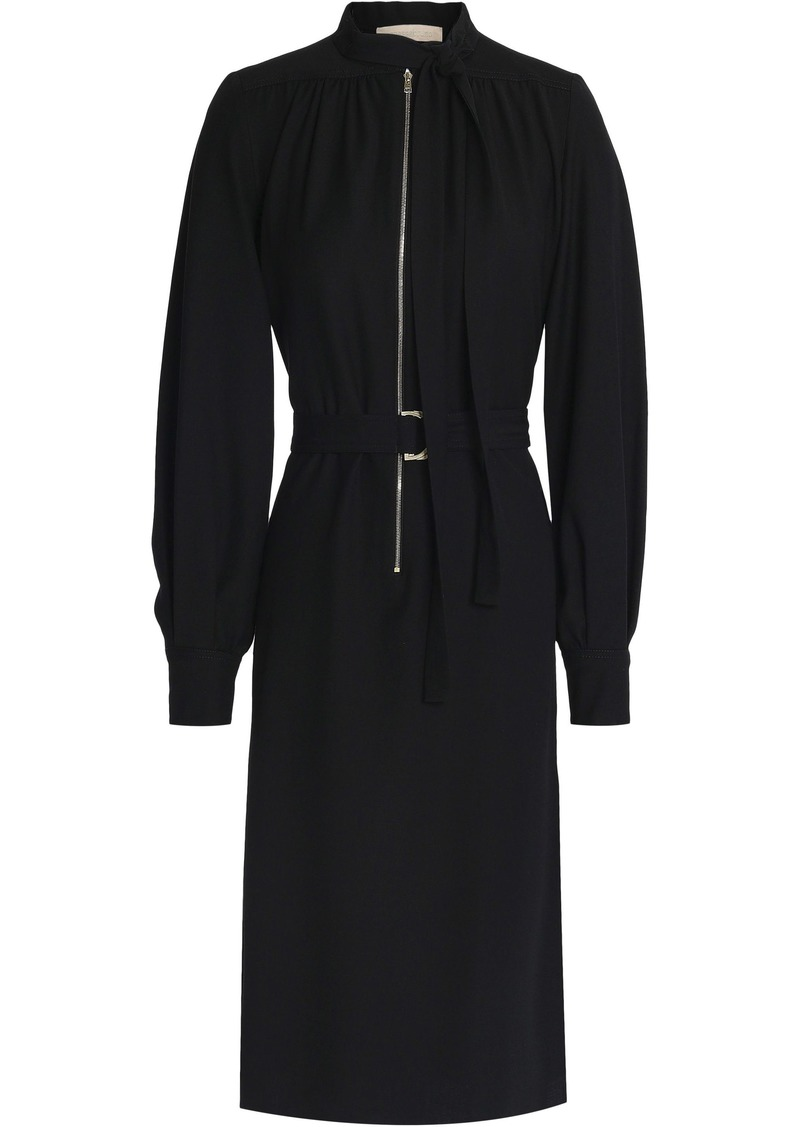 Vanessa Bruno Woman Pussy-bow Twill Dress Black
