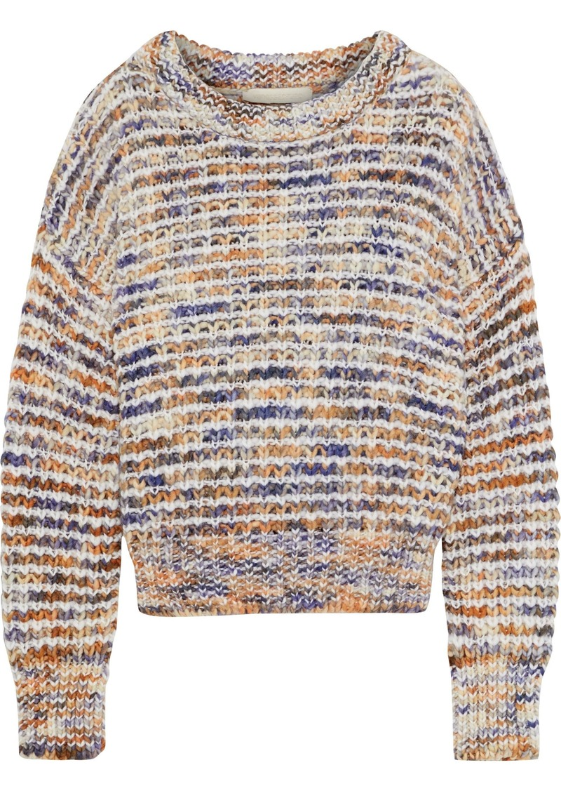 Vanessa Bruno Woman Ribbed Wool-blend Sweater Multicolor