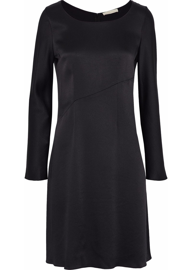 Vanessa Bruno Woman Satin-crepe Mini Dress Black