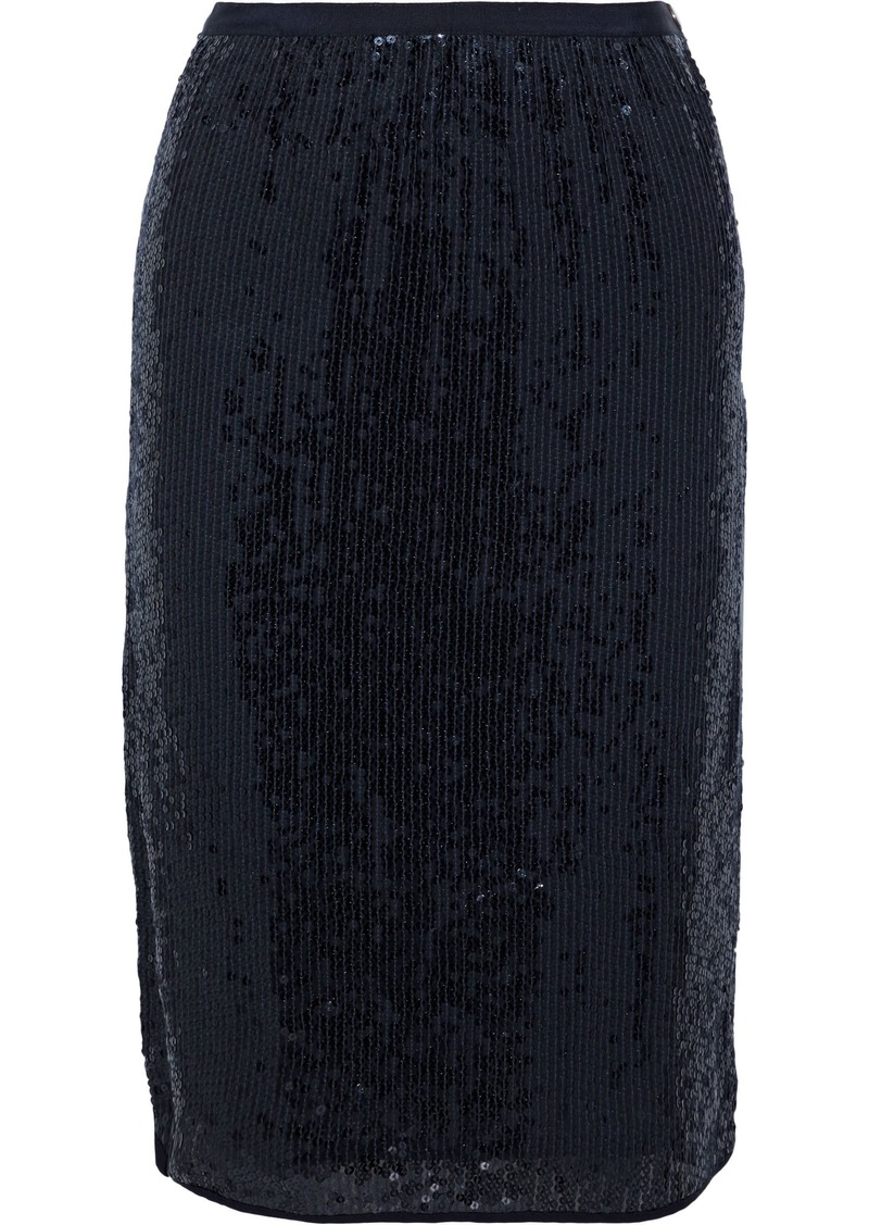 Vanessa Bruno Woman Sequined Woven Skirt Midnight Blue