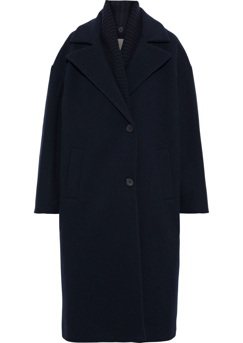Vanessa Bruno Woman Convertible Wool-blend Coat Navy
