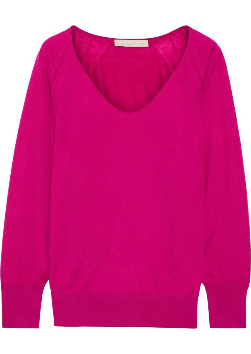 Vanessa Bruno Woman Wool Cashmere And Silk-blend Sweater Fuchsia