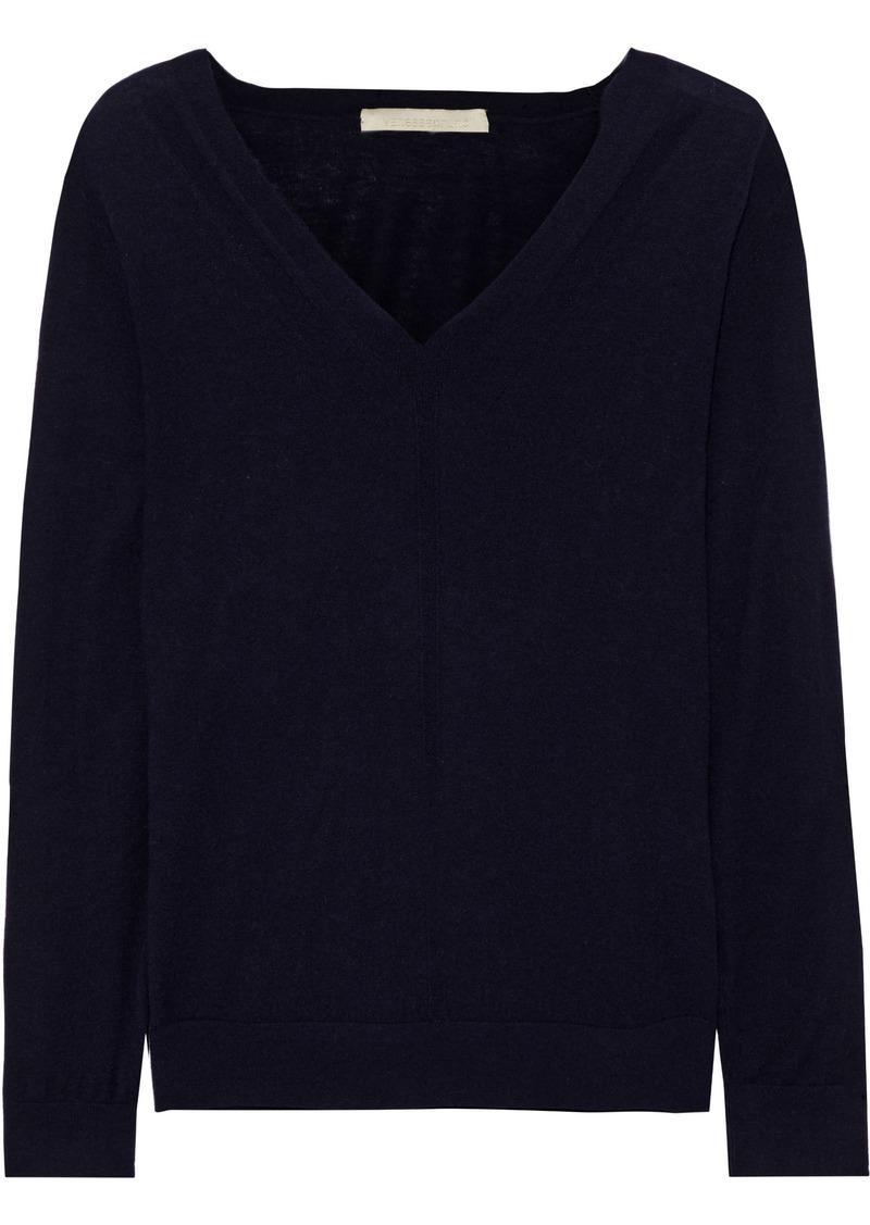 Vanessa Bruno Woman Wool Silk And Cashmere-blend Sweater Midnight Blue