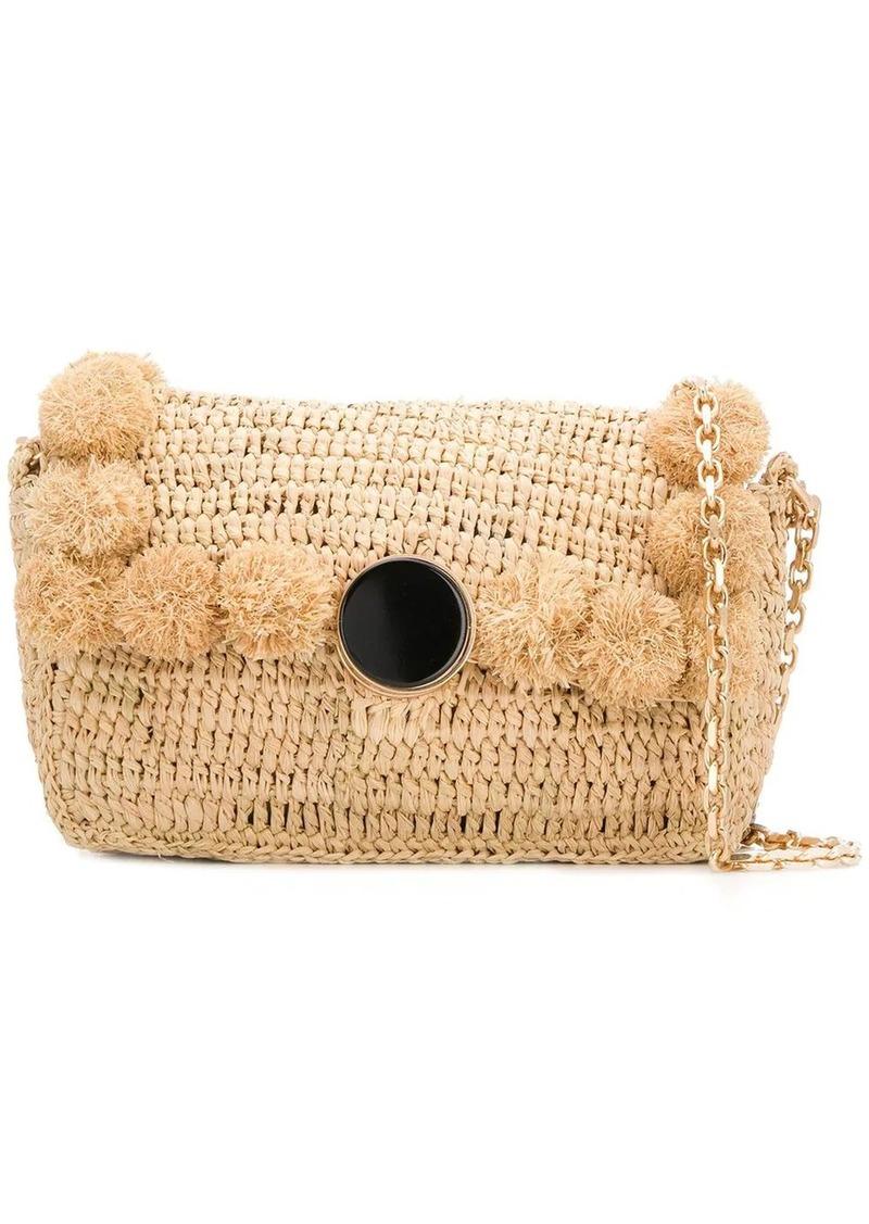 Vanessa Bruno woven pom-pom shoulder bag