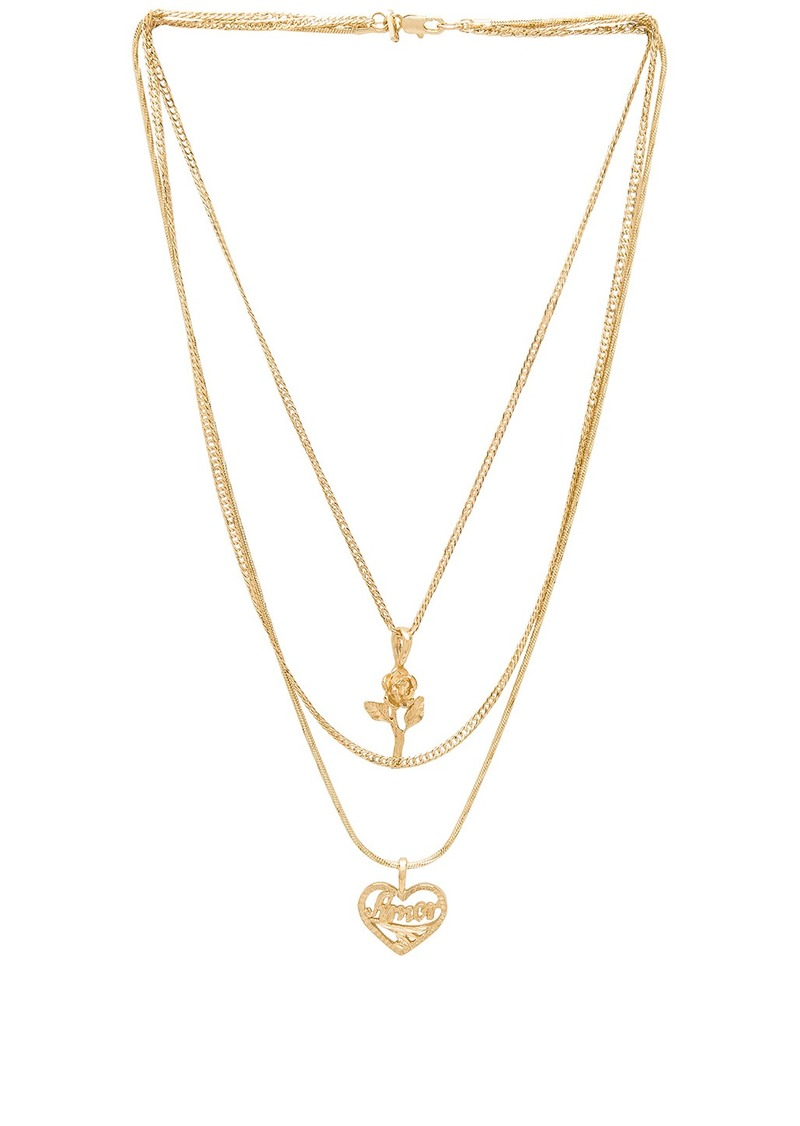 Vanessa Mooney Cielo Rose & Amor Layered Necklace