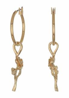 Vanessa Mooney Little Rose Hoops Earrings