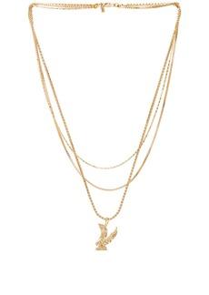 Vanessa Mooney Lopes Eagle Triple Chain Necklace